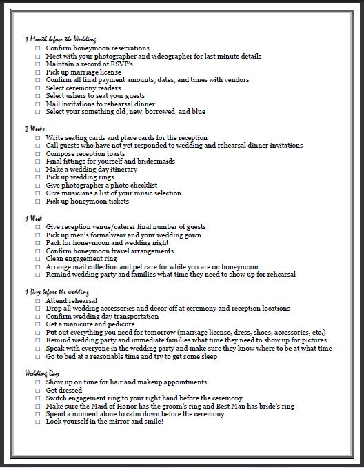 Our Printable Version Here Vip S Ultimate Wedding Checklist